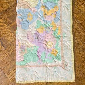 Pastel quilt baby blanket